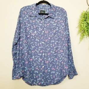 Rails | Periwinkle Blue Floral Long Sleeve Top